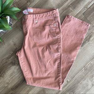 No Boundaries blush pink skinny jeans size 17